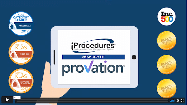 Provation iPro AIMS video screenshot