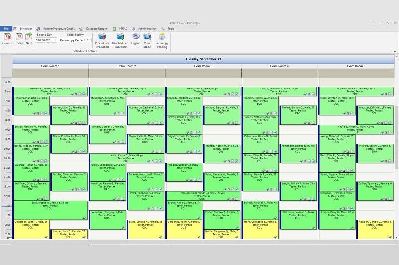 Provation endoPRO 20|20 Whiteboard Scheduler